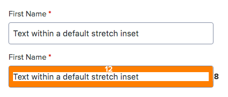 Figure: Textbox stretch inset